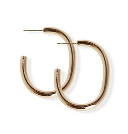 Fab accessories Boucle d'oreilles - Anneaux en acier inoxydable or rose