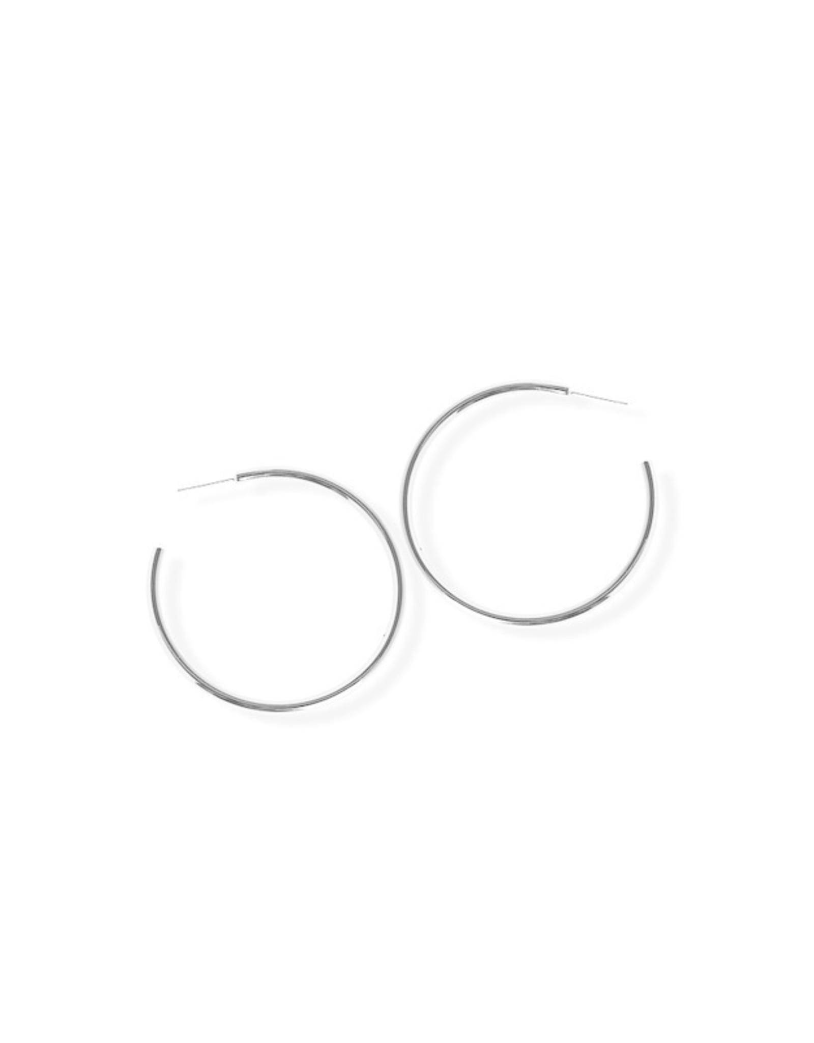 Fab accessories Boucle d'oreilles - Anneaux moyen mince en acier inoxydable