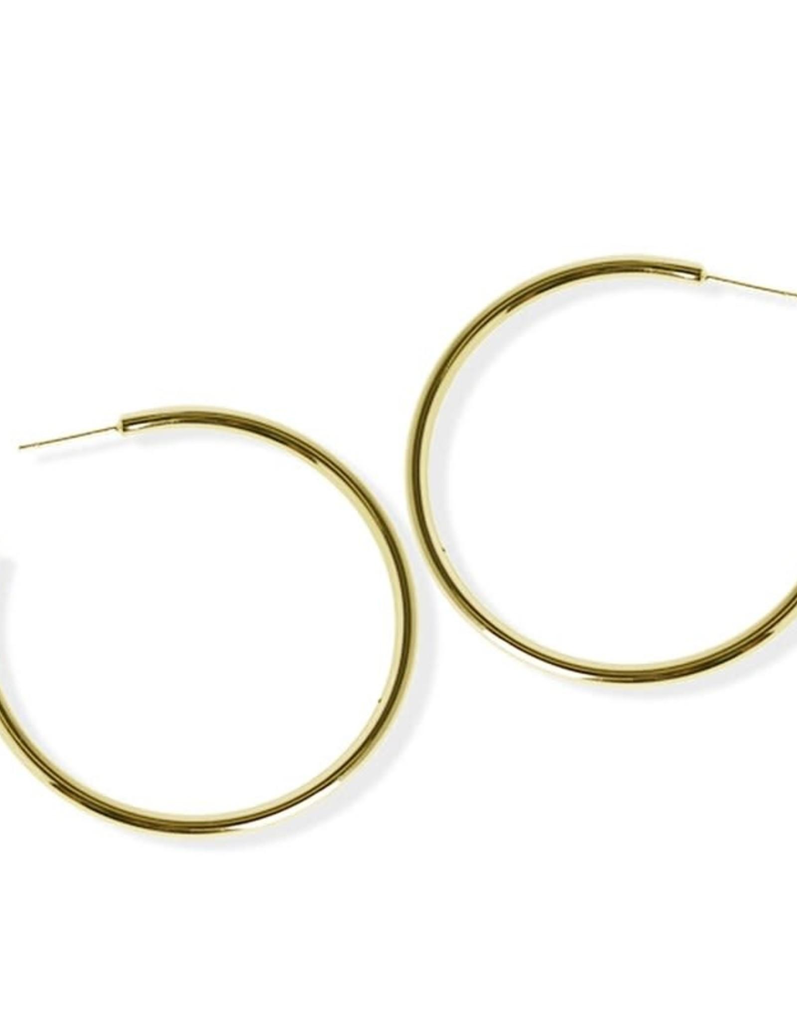 Fab accessories Boucle d'oreilles - Anneaux luxe en acier inoxydable