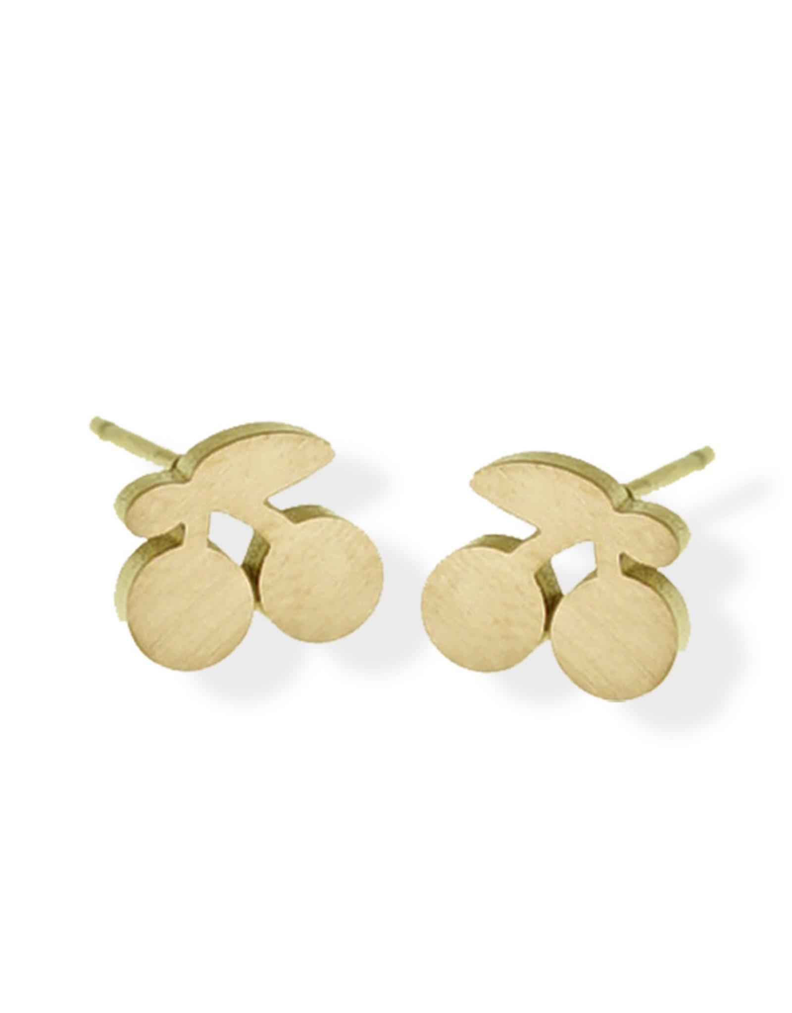 Fab accessories Boucle d'oreilles - Cerise en acier inoxydable or