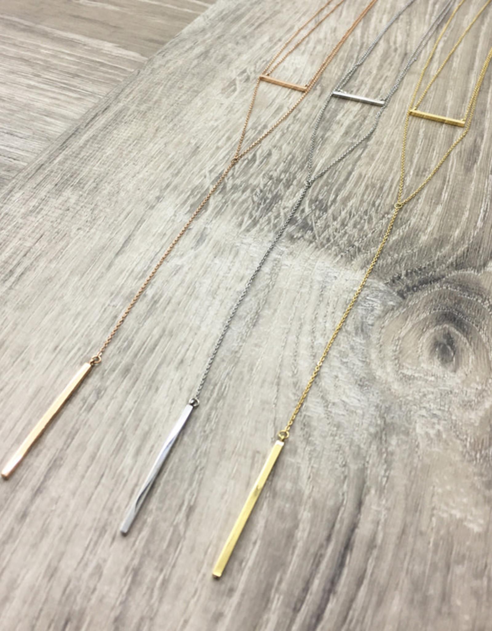 Fab accessories Collier - Barre double en acier inoxydable