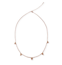 Fab accessories Collier - Triangle fixe en acier inoxydable or rose