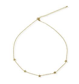 Fab accessories Collier - Étoile fixe en acier inoxydable or