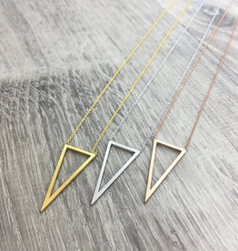 Fab accessories Collier - Triangle en acier inoxydable