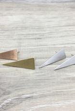 Fab accessories Boucle d'oreilles - Prisme en acier inoxydable or rose