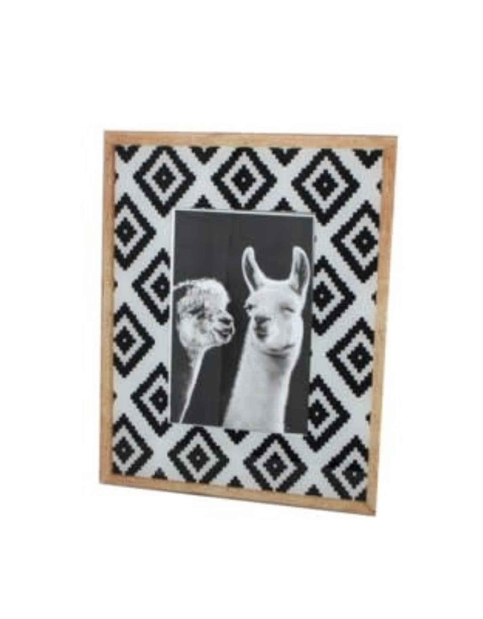 Cadre 8x10 - Losanges noirs