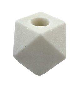 Bougeoir hexagonale - Marbre blanc