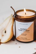 Les Têtes Brûlées Bougie Québec dans la peau - Érable et poire