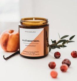 Les Têtes Brûlées Bougie Allo Montréal - Canneberge, vanille et pêche
