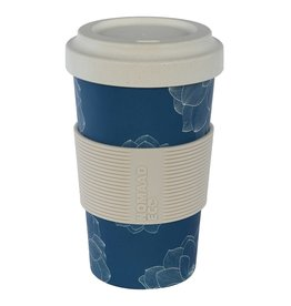 Tasse fibre bambou - Fleurs Bleus