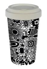Tasse fibre bambou - Fleurs Graphiques