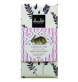 Barre de chocolat pour Pâques - Noir biologique 72%