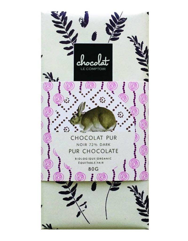 Le comptoir chocolat Barre de chocolat pour Pâques - Noir biologique 72%