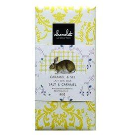 Barre de chocolat pour Pâques - Caramel & sel au Lait 38%