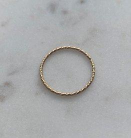 Le Petit bijou de Paris Bague - Jonc torsadé extra fin