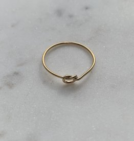 Bague - Noeud extra fine doublé or