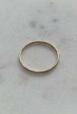 Le Petit bijou de Paris Bague - Jonc facetté fin doublé or