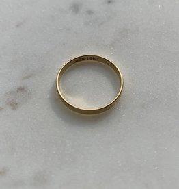Bague - Jonc fin doublé or