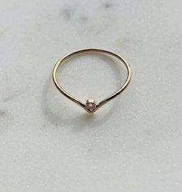 Le Petit bijou de Paris Bague - Pointu avec zircon doublé or