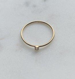 Le Petit bijou de Paris Bague - Extra fine avec zircon doublé or