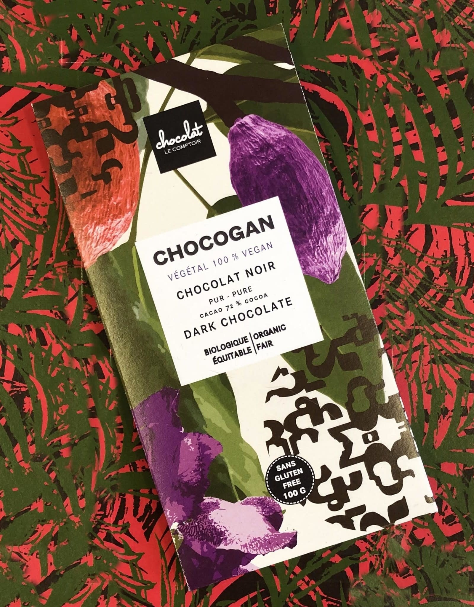 Le comptoir chocolat CHOCOGAN - Chocolat noir 72%