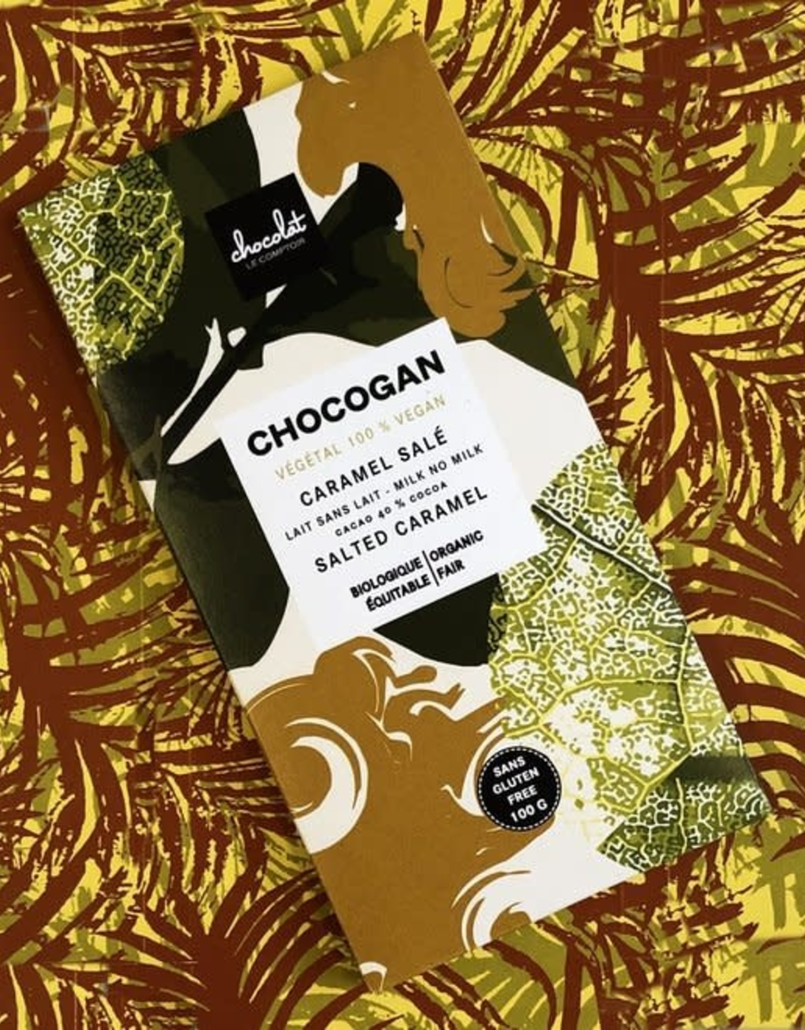 Le comptoir chocolat CHOCOGAN - Chocolat au lait - Caramel salé
