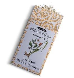 Dot & lil Sachet Lait de bain : Thé blanc & gingembre