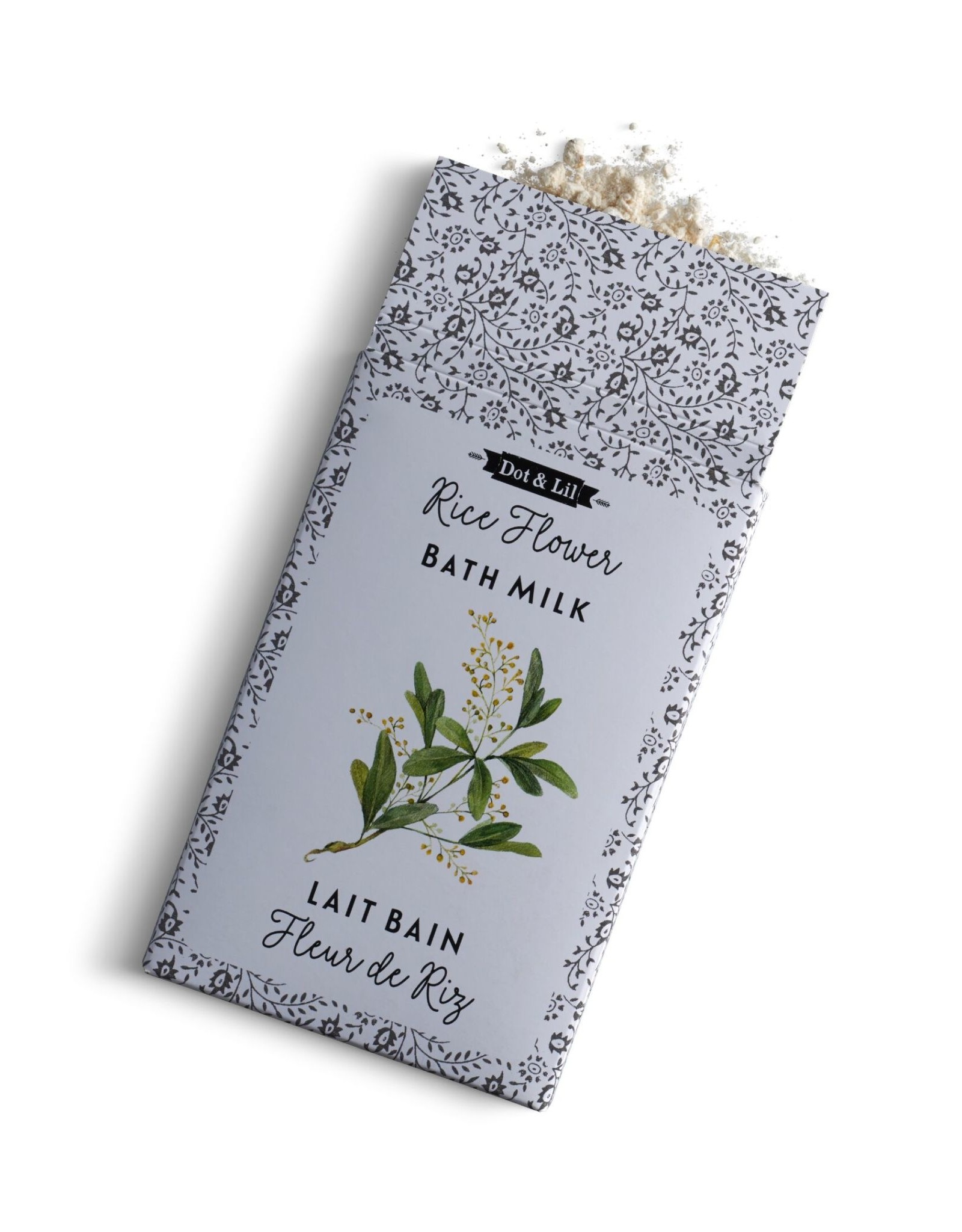 Dot & lil Sachet Lait de bain : Fleur de riz
