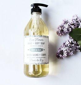 Dot & lil Savon mains-corps : Fleur de riz