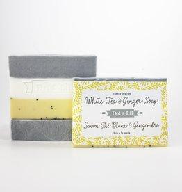 Dot & lil Pain de savon - Thé blanc & Gingembre