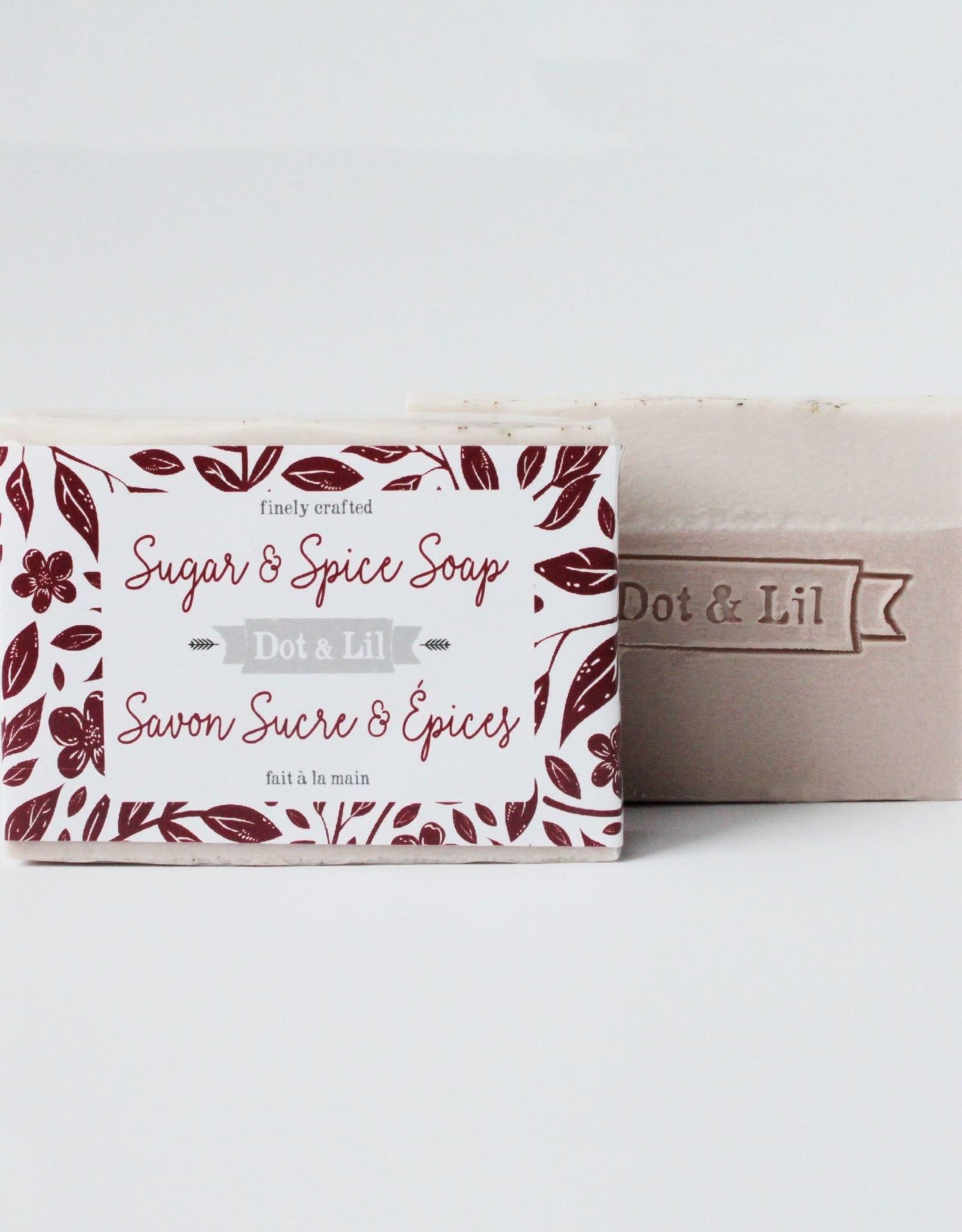 Dot & lil Pain de savon - Sucre & Épices