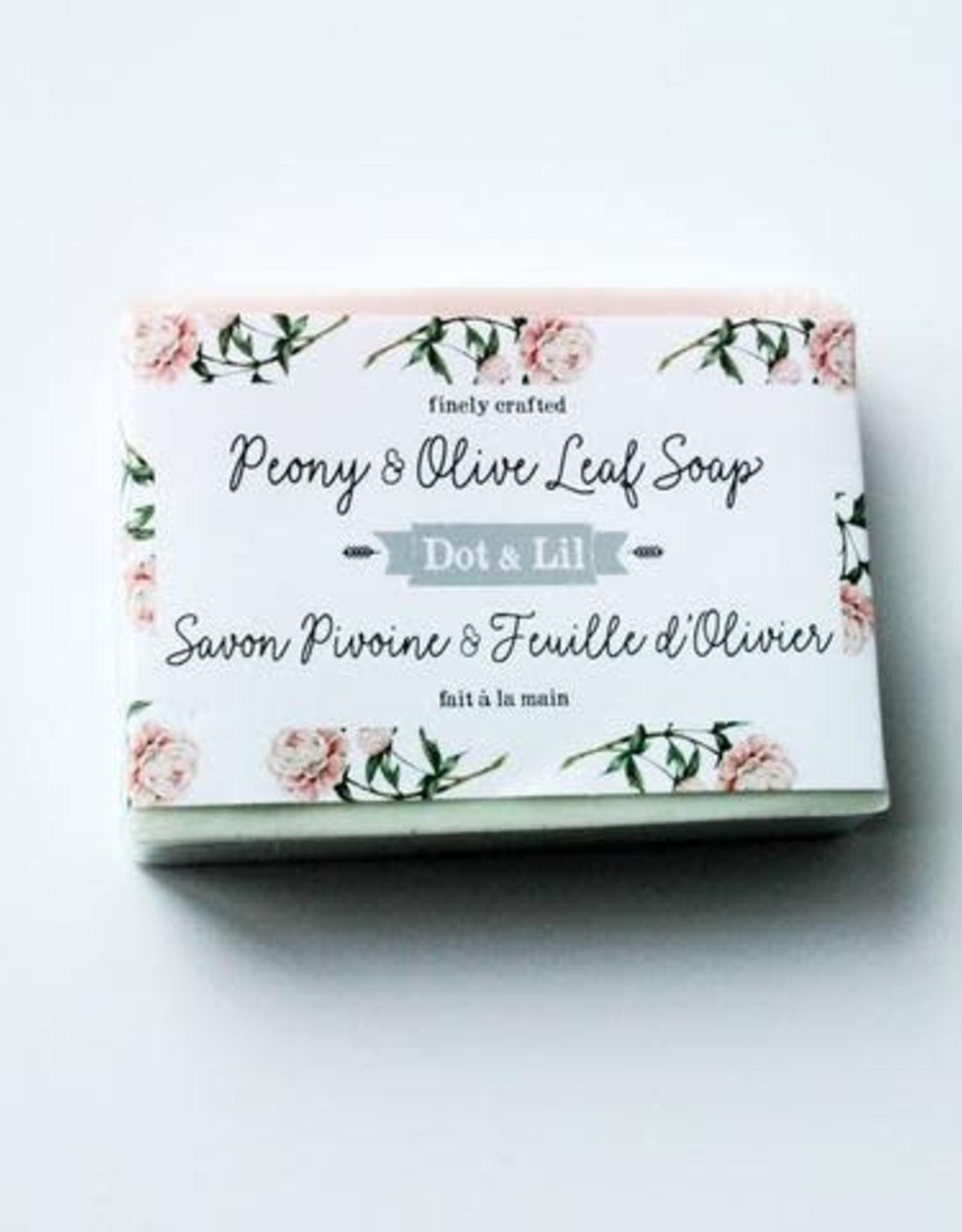 Dot & lil Pain de savon - Pivoine & Feuille d'Olivier