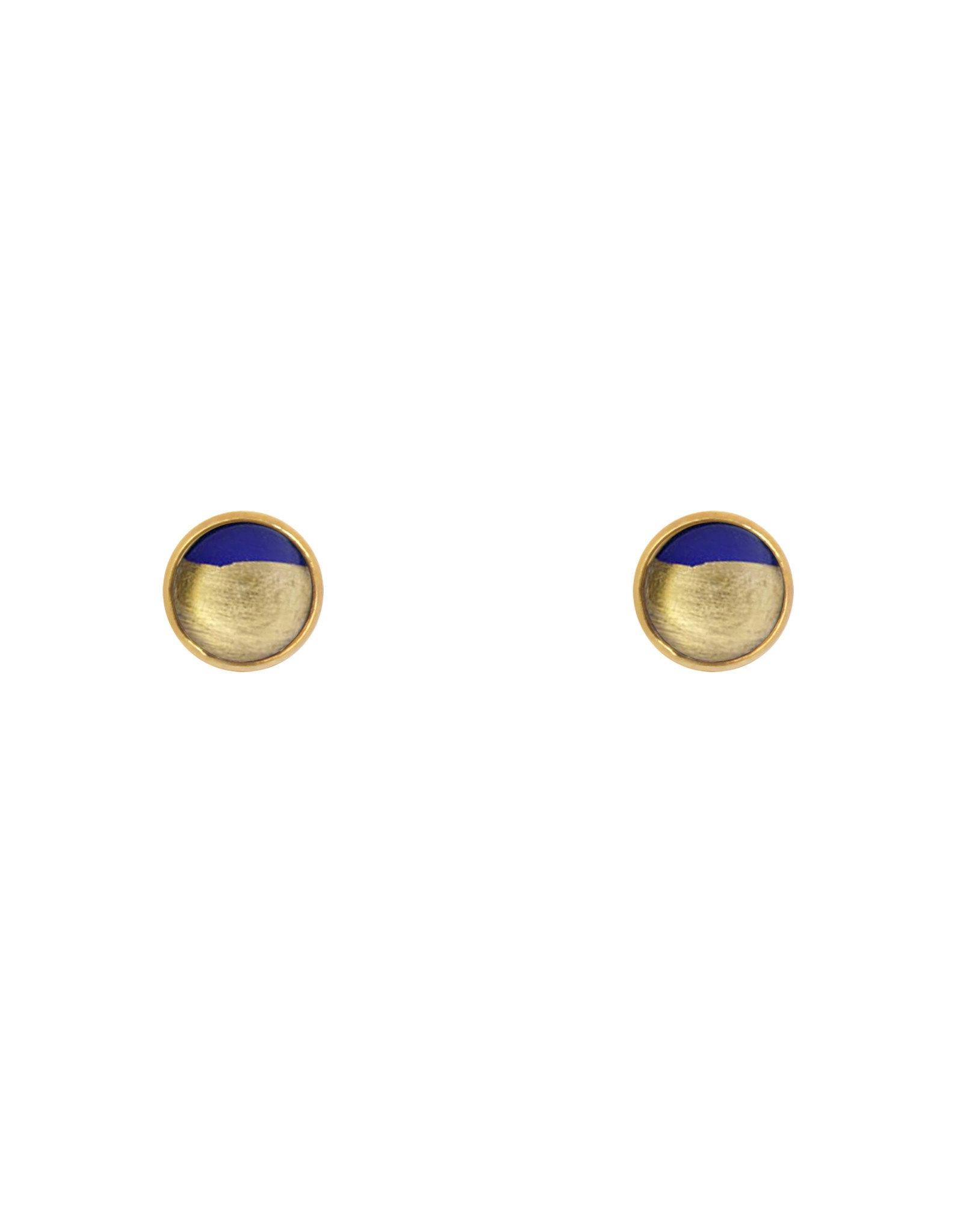Lost & Faune Boucles d'oreilles - Demi-lunes feuilles d'or