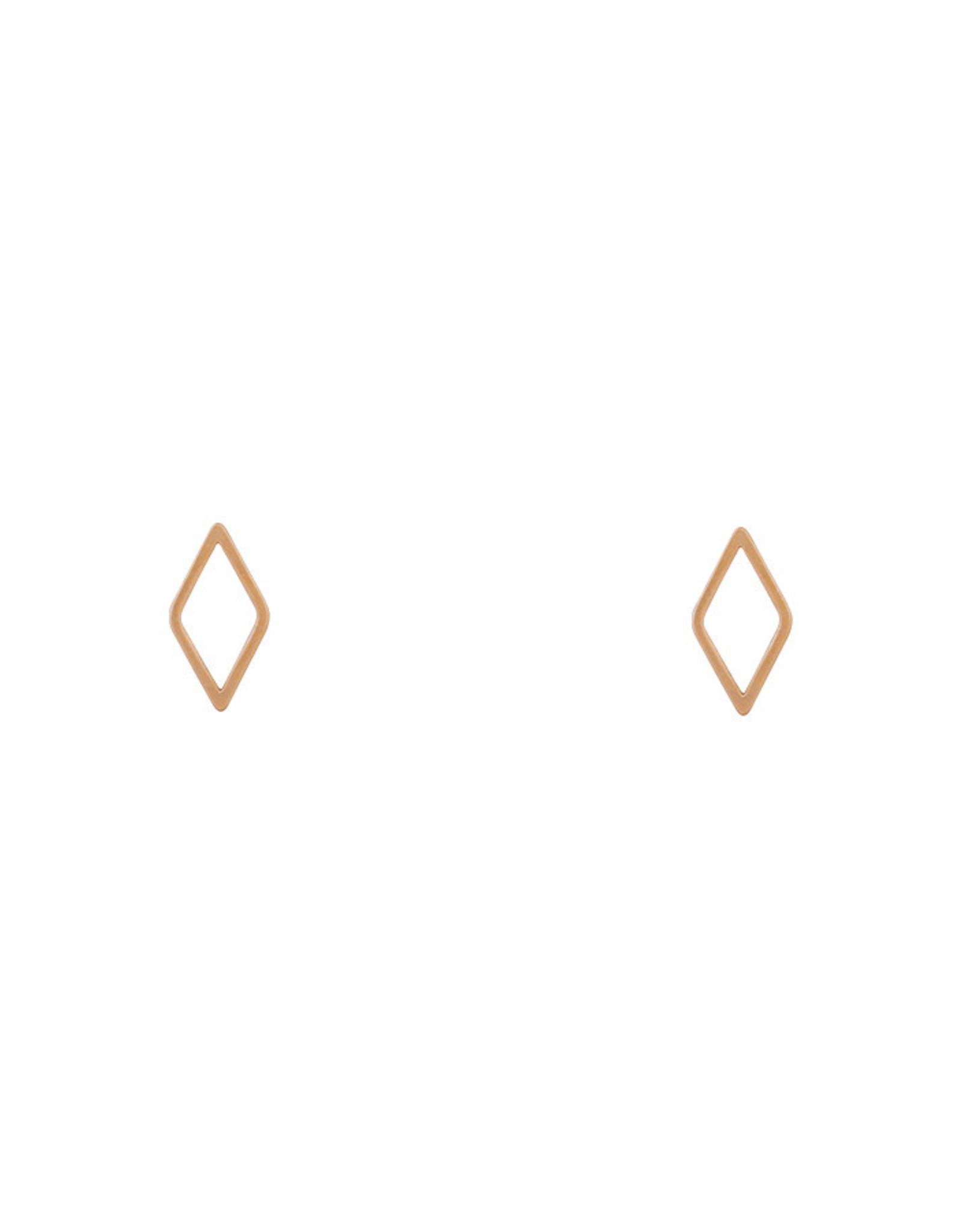 Lost & Faune Boucles d'oreilles - Losanges sur tiges