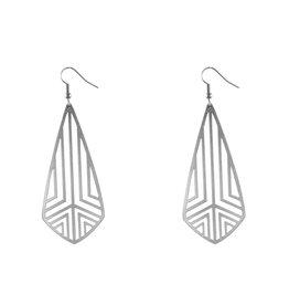 Lost & Faune Boucles d'oreilles - Losanges géométrique argent