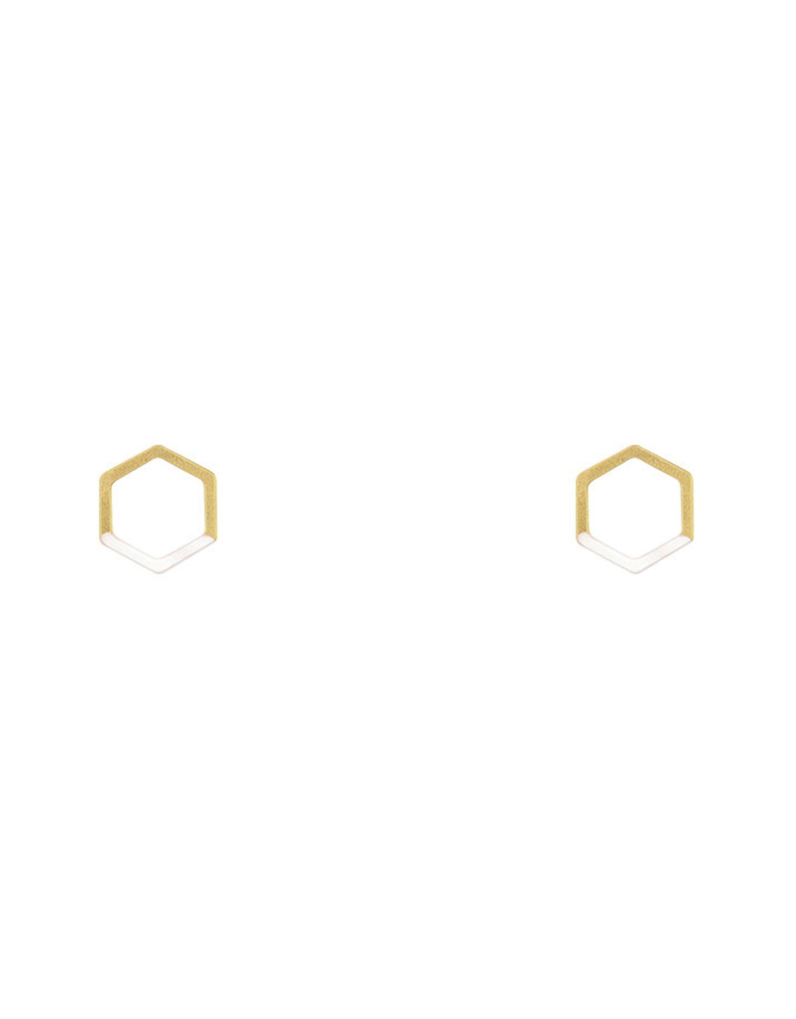Lost & Faune Boucles d'oreilles - Hexagones colorés