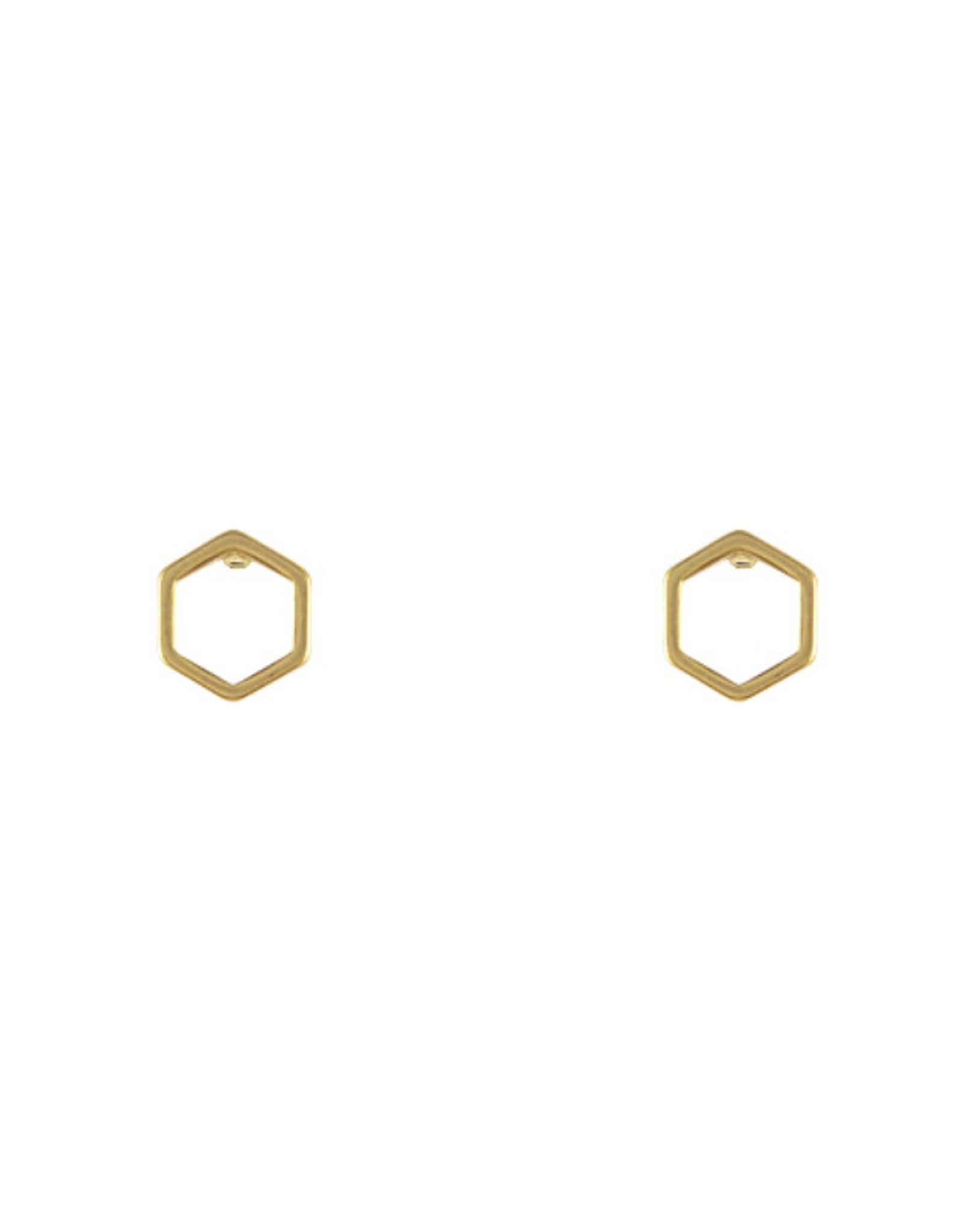 Lost & Faune Boucles d'oreilles - Hexagones vides