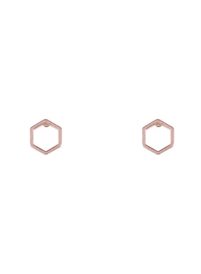 Boucles d'oreilles - Hexagones vides