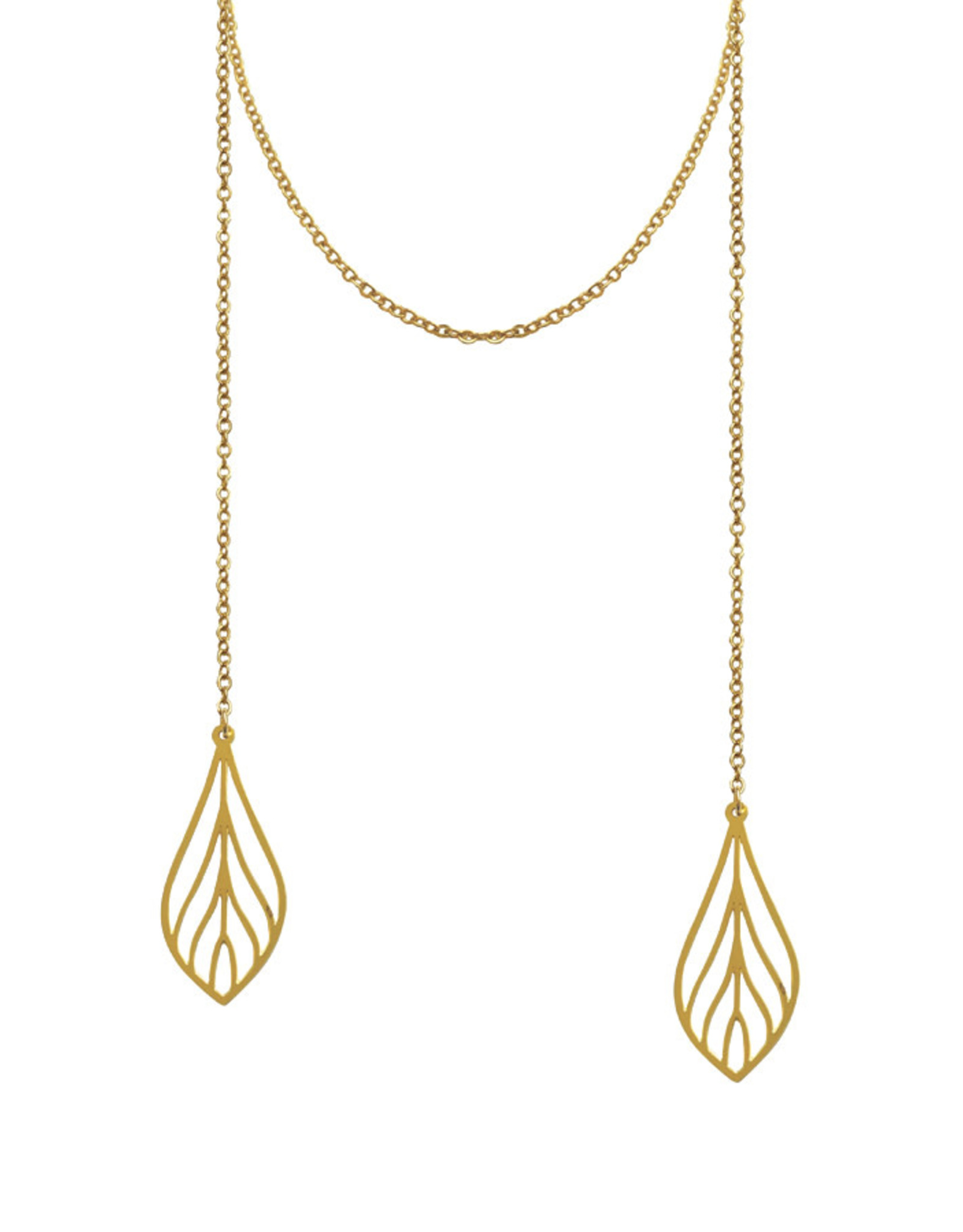 Lost & Faune Collier - Long feuilles