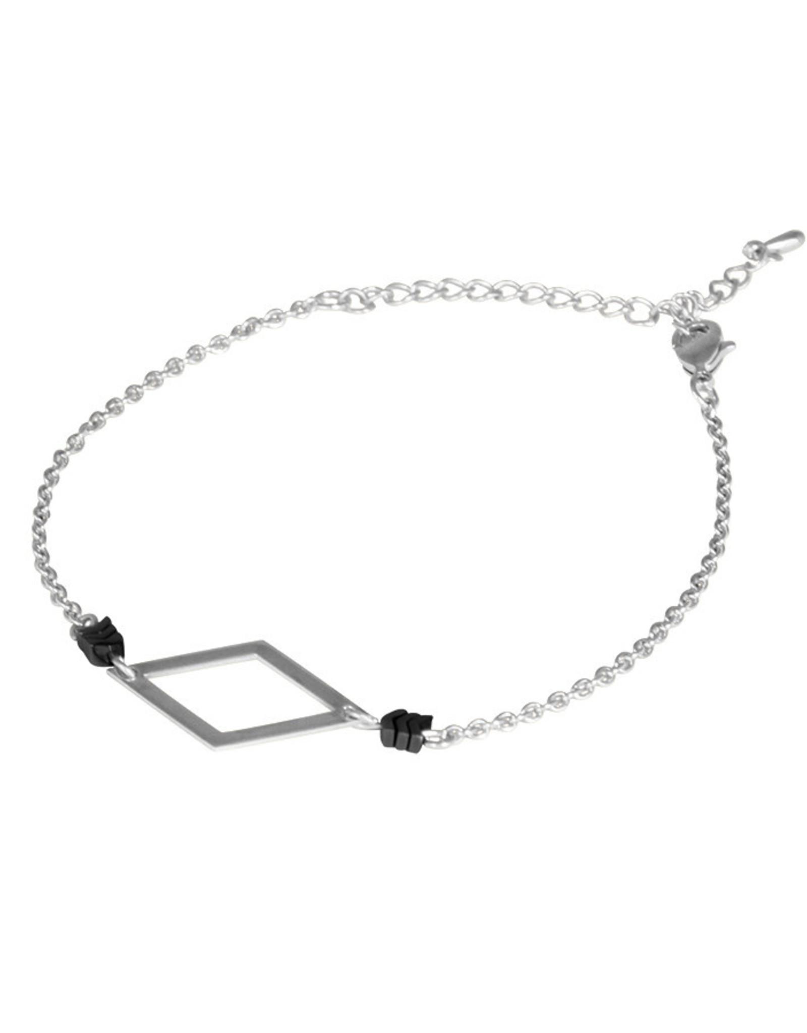Lost & Faune Bracelet - Losange et hématite
