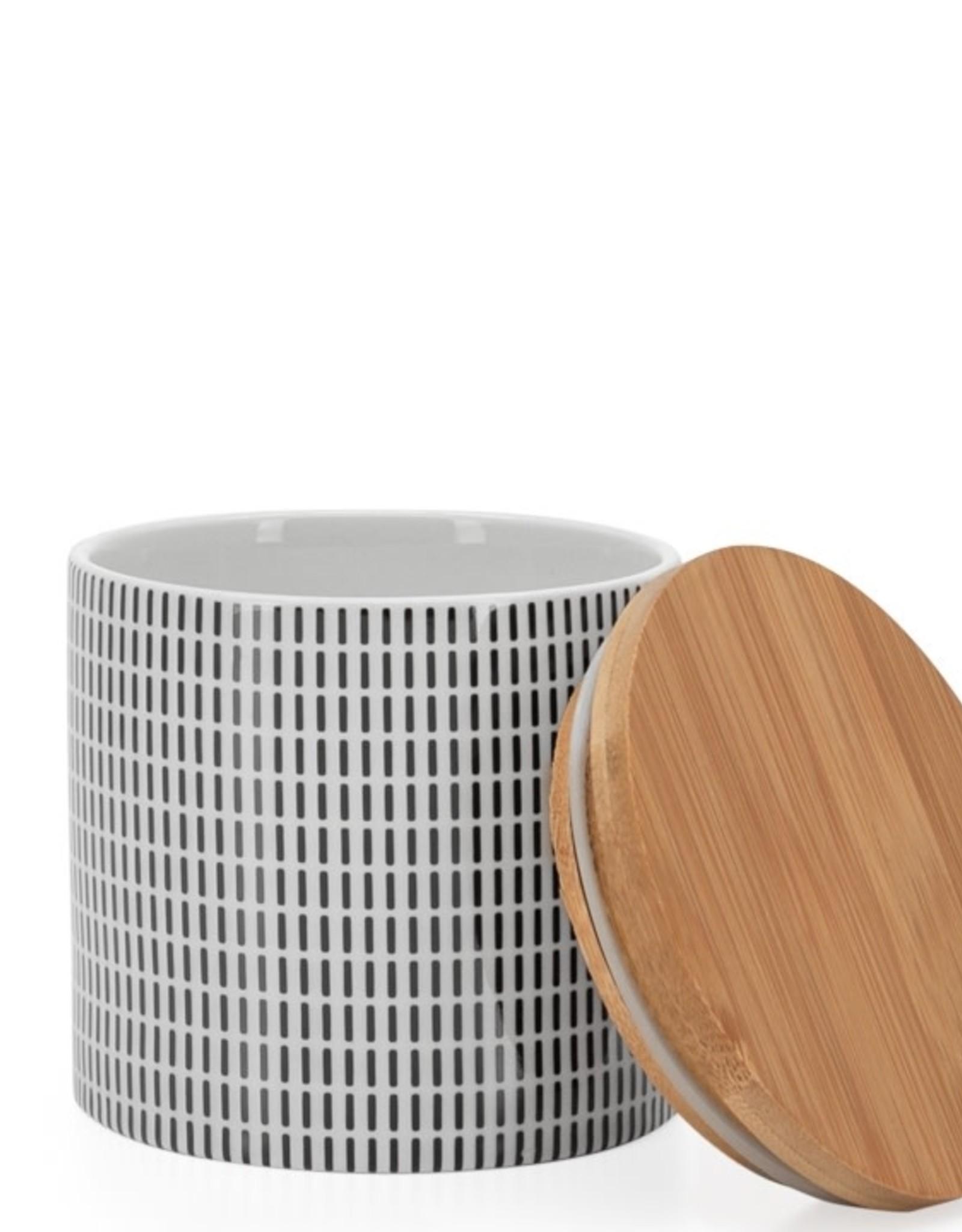 Pot avec couvercle Noir et Blanc - Moyen