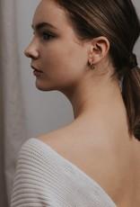 Lover's tempo Boucles d'oreilles Constance 15mm - Plaqué or