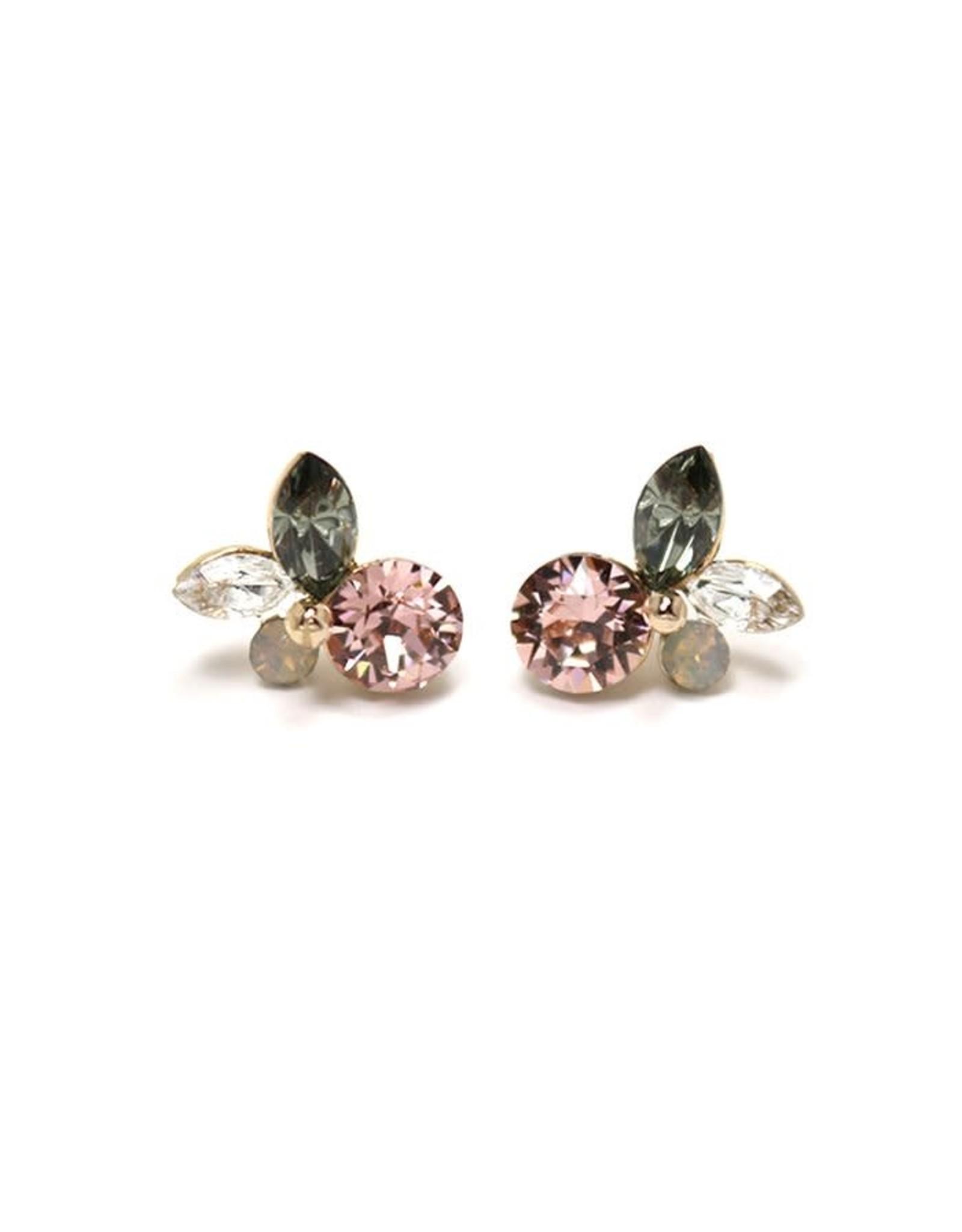 Lover's tempo Boucles d'oreilles - Corsage cristal rose