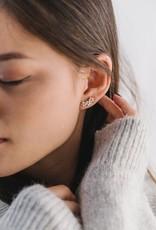 Lover's tempo Boucles d'oreilles Floral Climber - Plaqué or