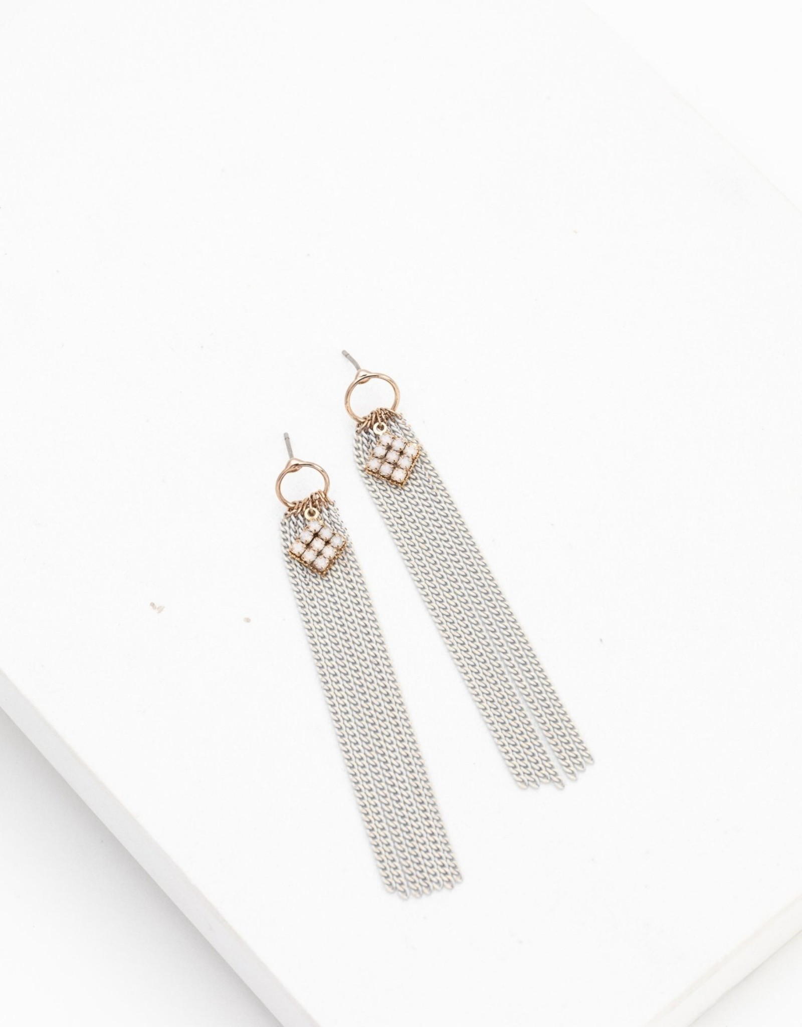 Lover's tempo Boucles d'oreilles - Siene chaines blanches