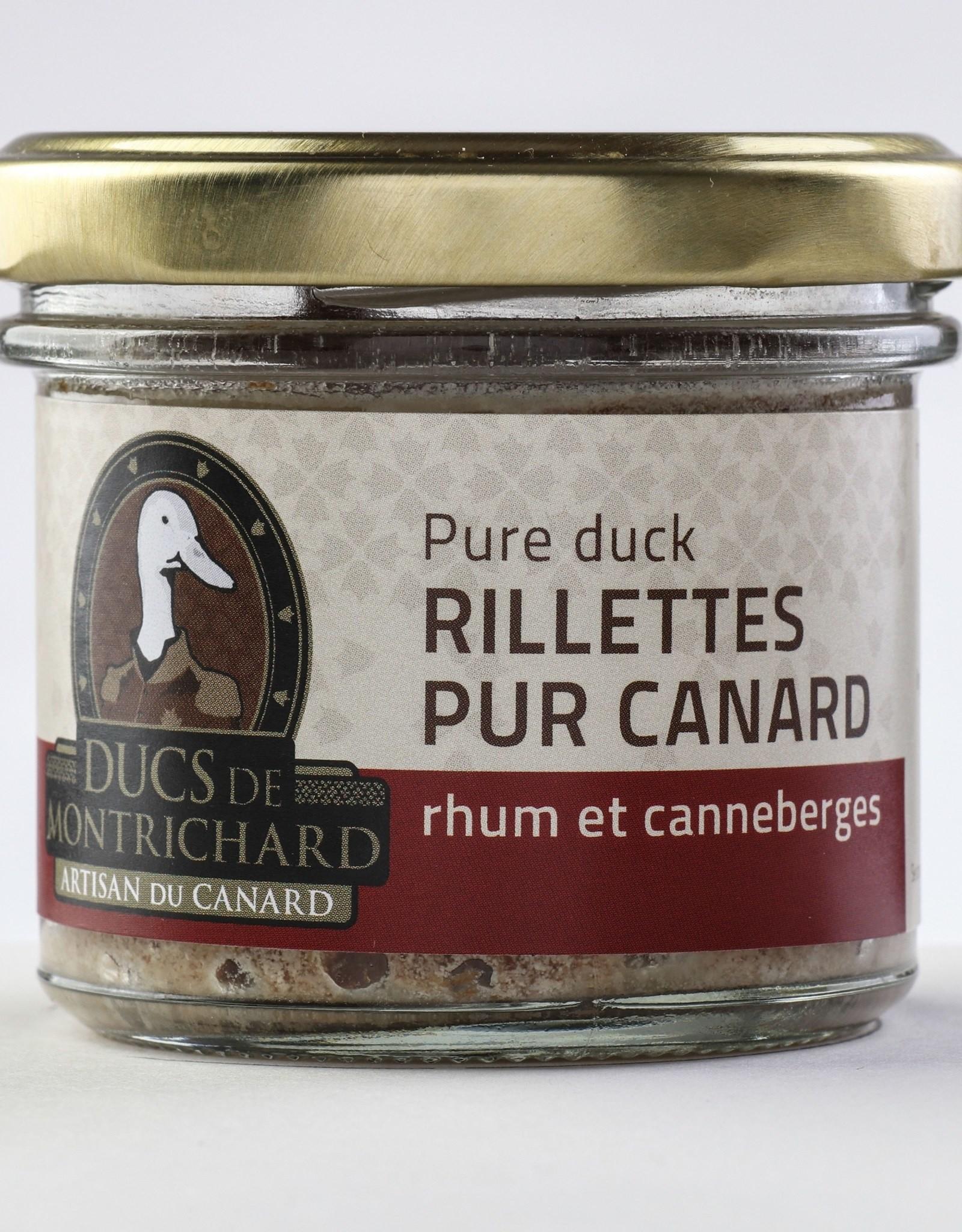 Duc de montrichard Rillettes de canard Rhum & Canneberges