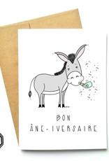 Carte de souhait - Bon Âne-iversaire