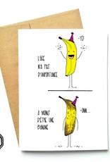 Carte de souhait - Âge banane