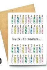 Made in Happy Carte de souhait - Chandelles