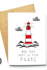 Made in Happy Carte de souhait - Phare